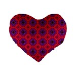 Retro Abstract Boho Unique Standard 16  Premium Flano Heart Shape Cushions Front