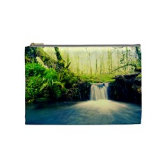 Waterfall River Nature Forest Cosmetic Bag (medium)