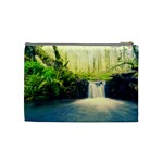 Waterfall River Nature Forest Cosmetic Bag (Medium) Back