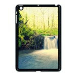 Waterfall River Nature Forest Apple iPad Mini Case (Black) Front