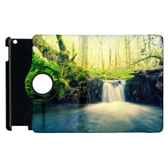 Waterfall River Nature Forest Apple Ipad 2 Flip 360 Case
