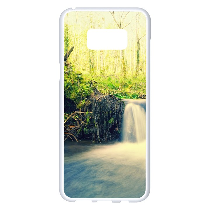 Waterfall River Nature Forest Samsung Galaxy S8 Plus White Seamless Case