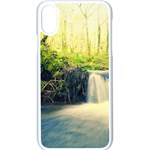 Waterfall River Nature Forest iPhone XS Seamless Case (White) Front