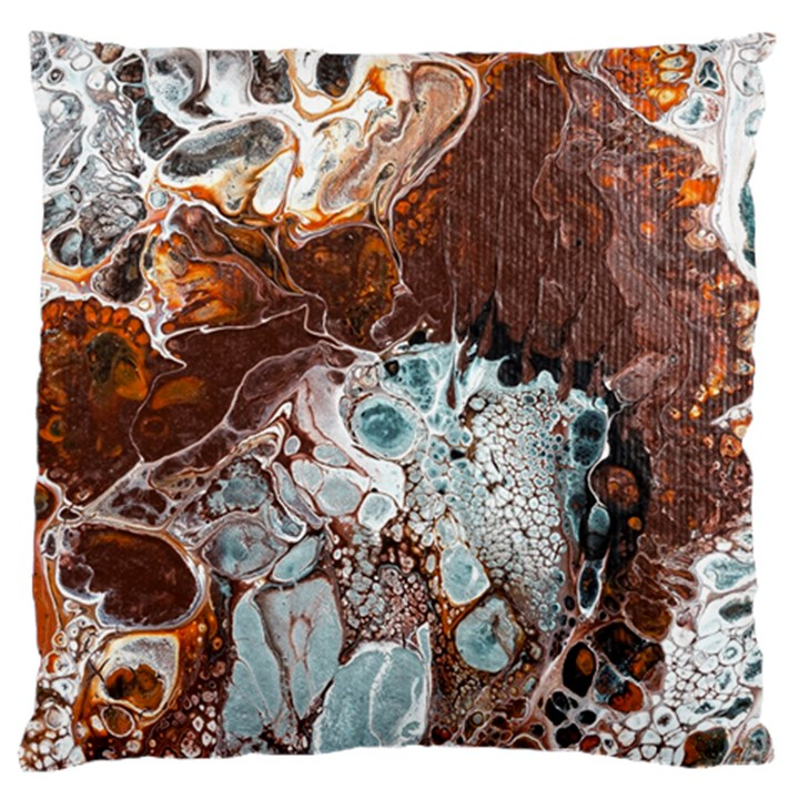 Paint Acrylic Paint Art Colorful Large Cushion Case (Two Sides)