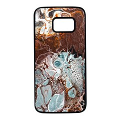 Paint Acrylic Paint Art Colorful Samsung Galaxy S7 Black Seamless Case