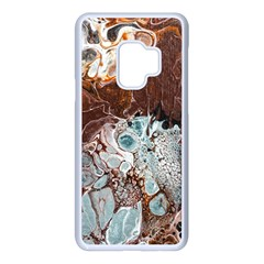 Paint Acrylic Paint Art Colorful Samsung Galaxy S9 Seamless Case(white)