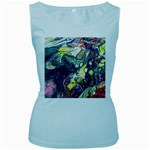 Paint Acrylic Paint Art Colorful Women s Baby Blue Tank Top Front