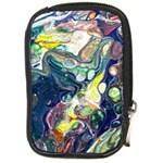 Paint Acrylic Paint Art Colorful Compact Camera Leather Case Front
