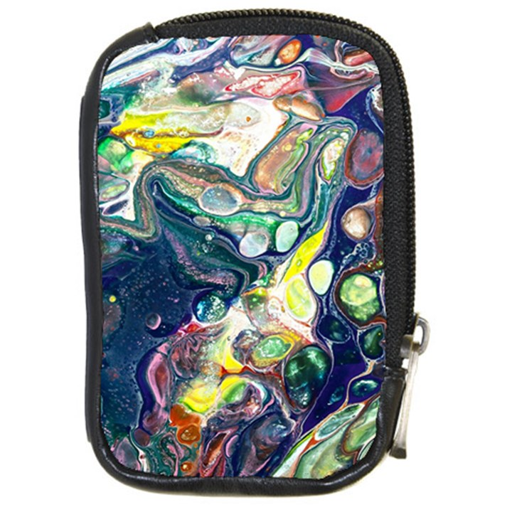 Paint Acrylic Paint Art Colorful Compact Camera Leather Case
