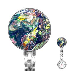 Paint Acrylic Paint Art Colorful Stainless Steel Nurses Watch