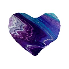 Color Acrylic Paint Art Painting Art Standard 16  Premium Heart Shape Cushions