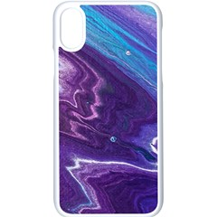 Color Acrylic Paint Art Painting Art Iphone X Seamless Case (white)