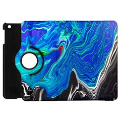 Paint Acrylic Paint Art Colorful Blue Apple Ipad Mini Flip 360 Case by Pakrebo