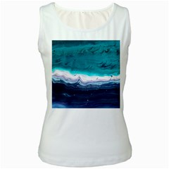 Color Acrylic Paint Art Painting Women s White Tank Top