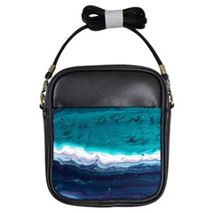 Color Acrylic Paint Art Painting Girls Sling Bag