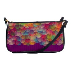 Background Circles Abstract Shoulder Clutch Bag by Pakrebo