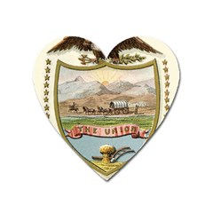Historical Coat Of Arms Of Idaho Territory Heart Magnet by abbeyz71
