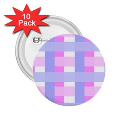 Gingham Checkered Texture Pattern 2 25  Buttons (10 Pack)