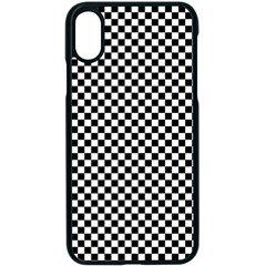 Background Black Board Checker Iphone Xs Seamless Case (black)