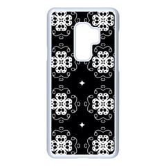 Ornament Flowers Seamless Geometric Samsung Galaxy S9 Plus Seamless Case(white)
