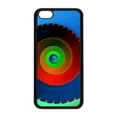 Fractal Spiral Curve Helix Iphone 5c Seamless Case (black)