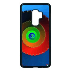 Fractal Spiral Curve Helix Samsung Galaxy S9 Plus Seamless Case(black)