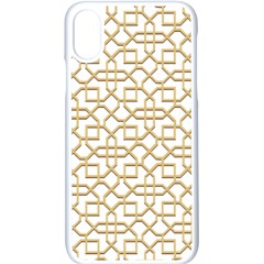 Graphic Mughal Pattern Jali Jaali Iphone X Seamless Case (white)