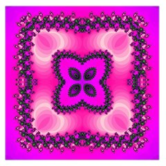 Kaleidoscope Ornament Pattern Large Satin Scarf (square)