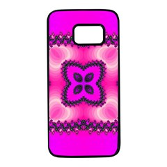 Kaleidoscope Ornament Pattern Samsung Galaxy S7 Black Seamless Case
