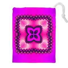 Kaleidoscope Ornament Pattern Drawstring Pouch (xxxl) by Pakrebo