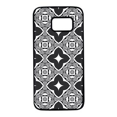 Seamless Pattern Ornament Samsung Galaxy S7 Black Seamless Case by Pakrebo