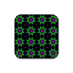 Seamless Wallpaper Pattern Rubber Coaster (square)