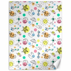 Summer Pattern Design Colorful Canvas 12  X 16
