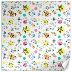 Summer Pattern Design Colorful Canvas 20  X 20