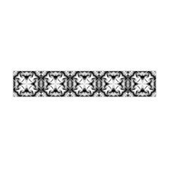Seamless Wallpaper Pattern Ornamen Black White Flano Scarf (mini)