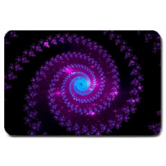 Fractal Spiral Space Galaxy Large Doormat  by Pakrebo