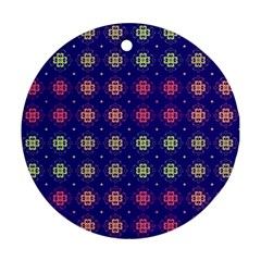 Flowers Pattern Ornament Symmetry Ornament (round)