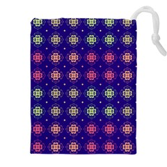 Flowers Pattern Ornament Symmetry Drawstring Pouch (xxxl) by Pakrebo