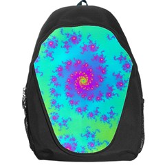 Spiral Fractal Abstract Pattern Backpack Bag by Pakrebo