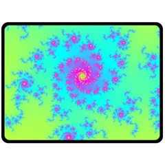 Spiral Fractal Abstract Pattern Double Sided Fleece Blanket (large)