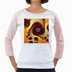 Fractal Rendering Spiral Twist Girly Raglan