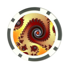 Fractal Rendering Spiral Twist Poker Chip Card Guard