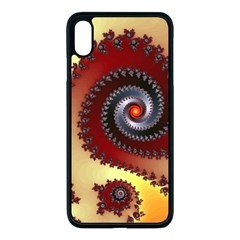 Fractal Rendering Spiral Twist Iphone Xs Max Seamless Case (black) by Pakrebo