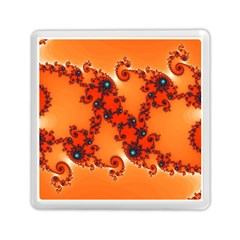 Fractal Rendering Spiral Curve Orange Memory Card Reader (square) by Pakrebo