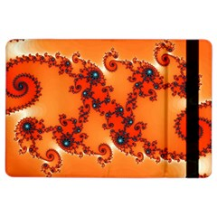 Fractal Rendering Spiral Curve Orange Ipad Air 2 Flip