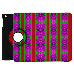 Love For The Fantasy Flowers With Happy Purple And Golden Joy Apple Ipad Mini Flip 360 Case by pepitasart