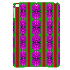 Love For The Fantasy Flowers With Happy Purple And Golden Joy Apple Ipad Pro 9 7   Black Uv Print Case by pepitasart