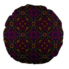Triangle Pattern Kaleidoscope Color Large 18  Premium Round Cushions