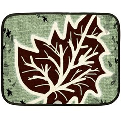 Drawing Autumn Leaves Season Double Sided Fleece Blanket (mini)  by Pakrebo