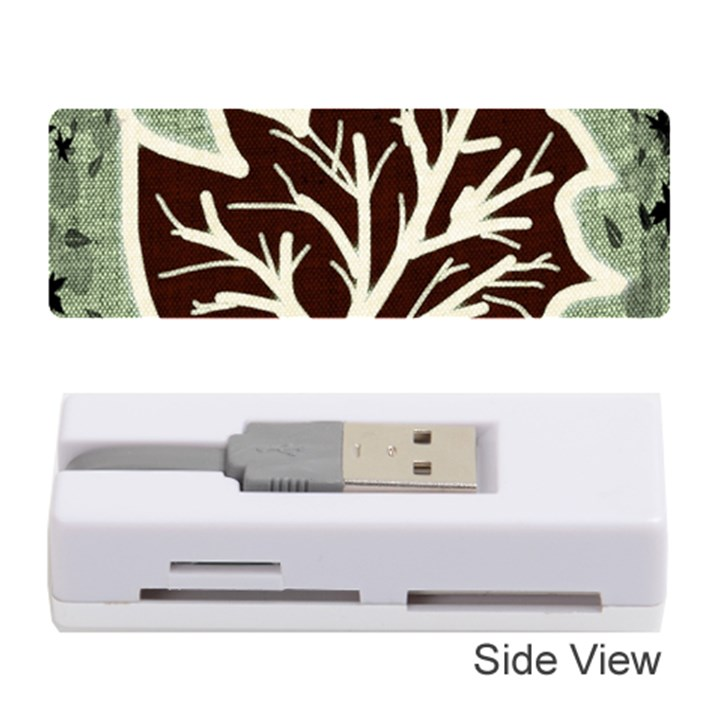 Drawing Autumn Leaves Season Memory Card Reader (Stick)